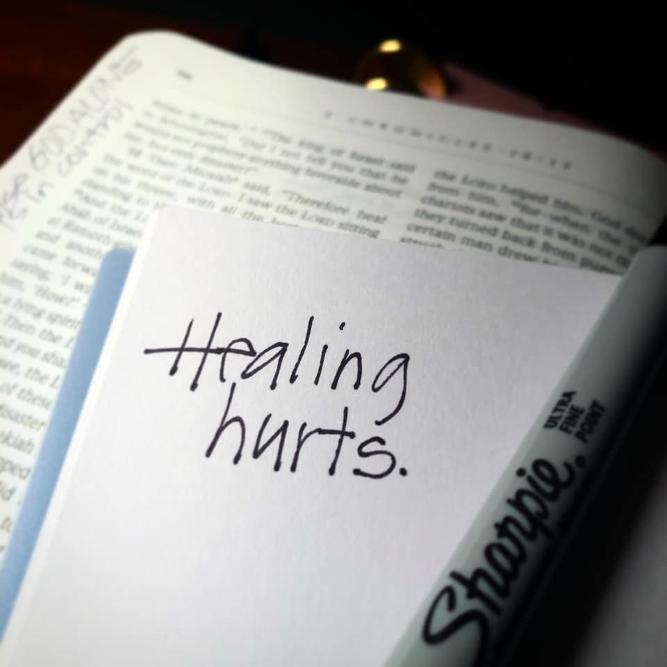 healing hurts from Tera's online Christian journey